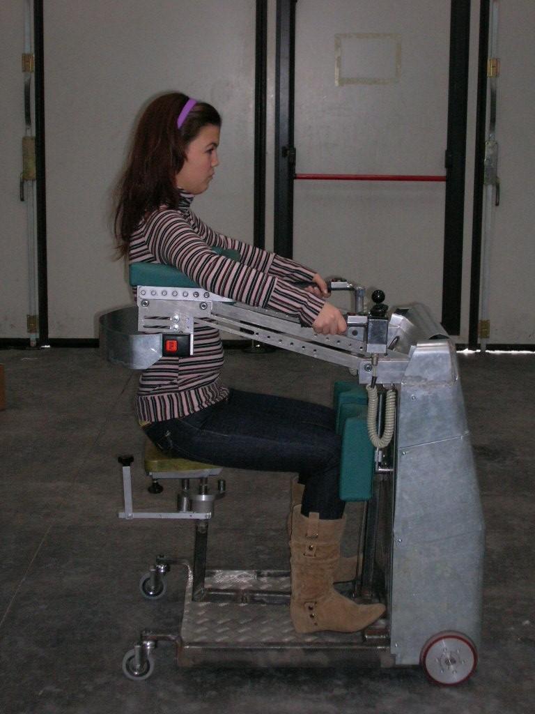 prototipo di una nuova carrozzina per disabili