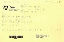 La bolletta dell'Enel, in Braille
