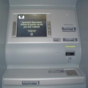 Bancomat per Ipovedenti