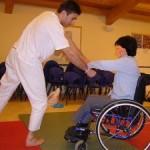 Oggi e Domani a Ponte di Piave (TV) Sperimentazione dell'aikido in sedia a rotelle con il Piccolo Rifugio